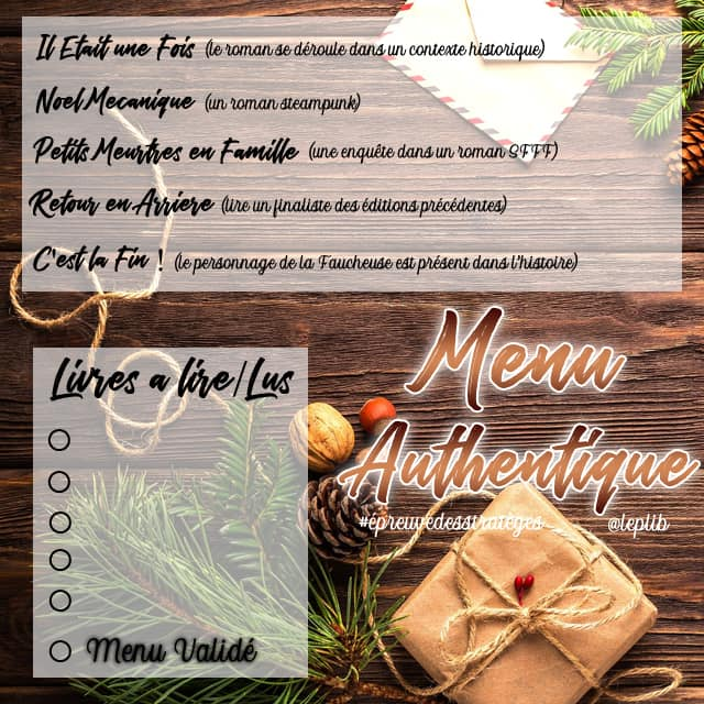 Menu authentique PLIB2020 #PLIB2020